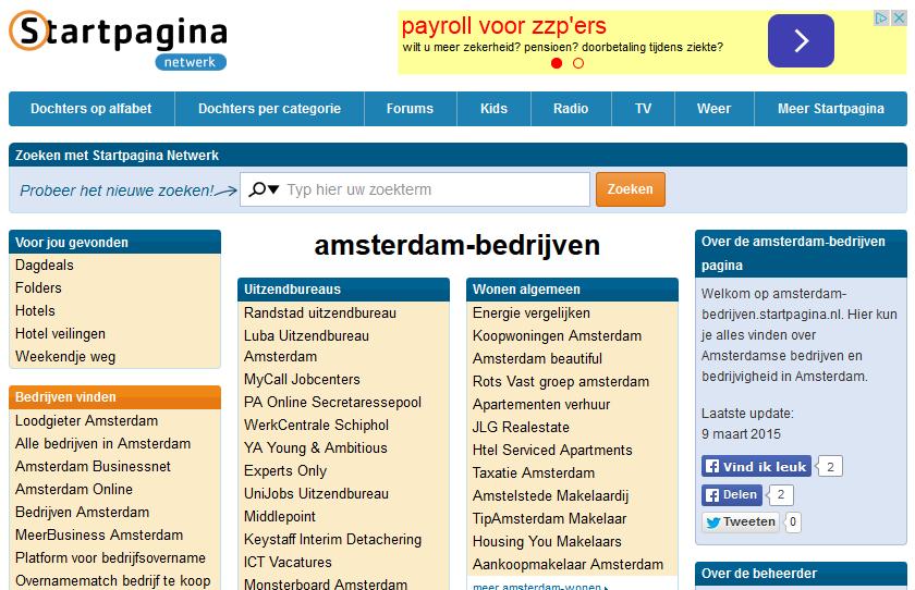 Amsterdam Bedrijven Startpagina.nl